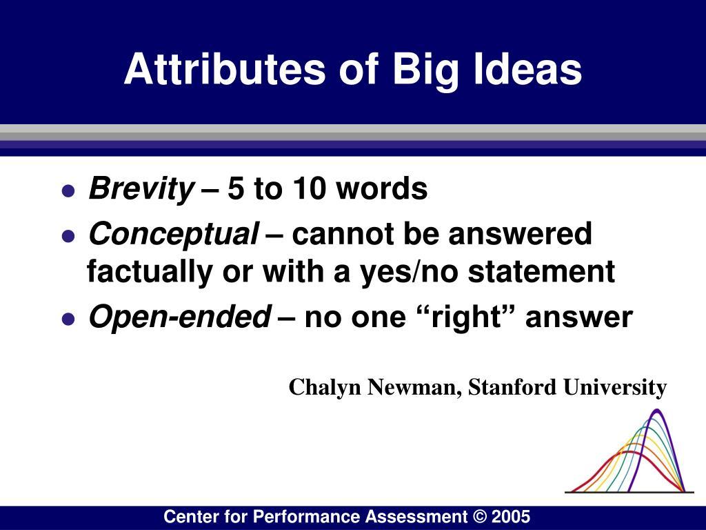 Attributes of Big Ideas