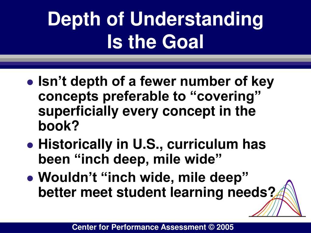 Depth of Understanding