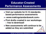 educator created performance assessments