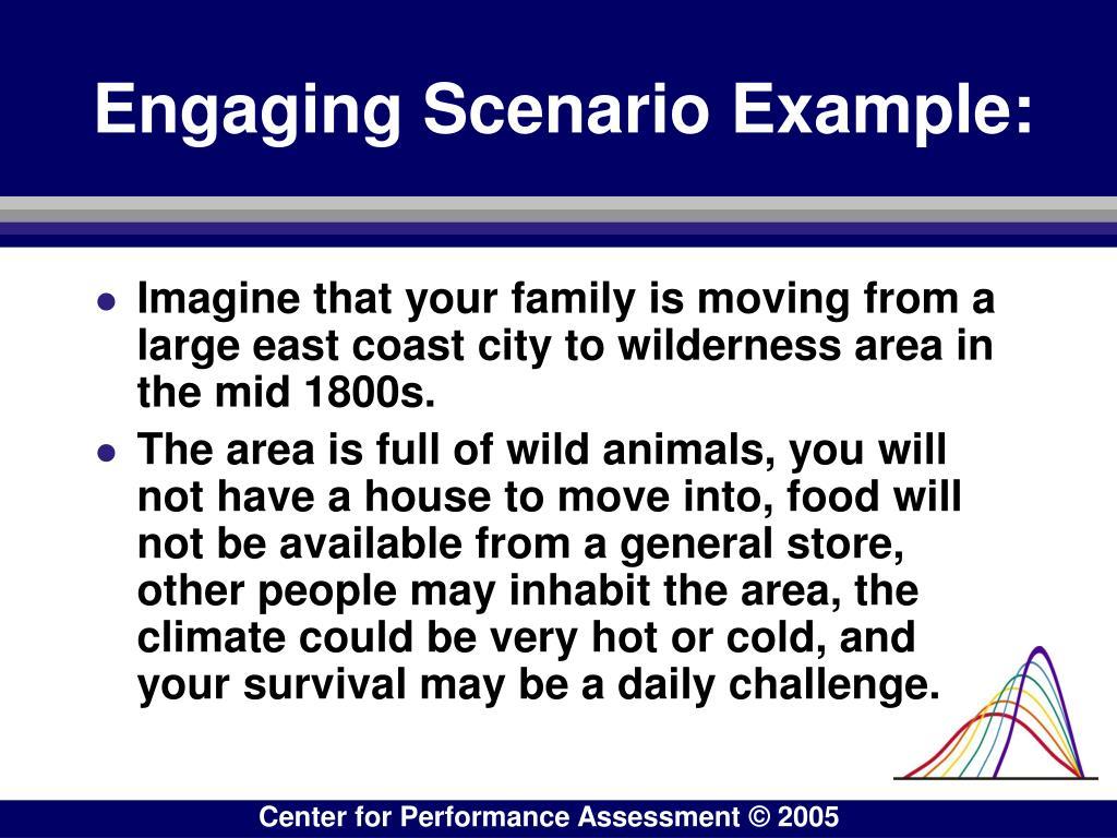 Engaging Scenario Example: