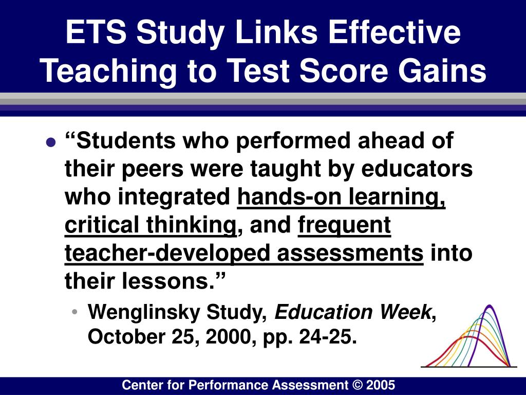 ETS Study Links Effective Teaching to Test Score Gains
