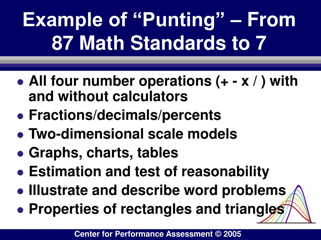"""Example of """"Punting"""" – From 87 Math Standards to 7"""