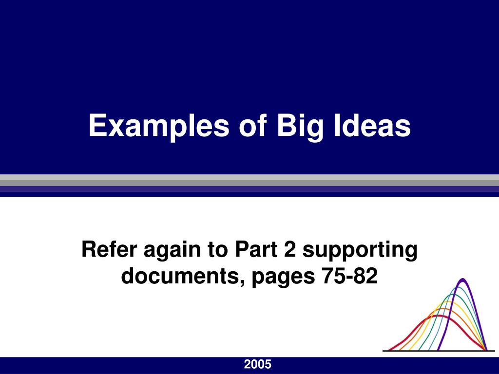 Examples of Big Ideas