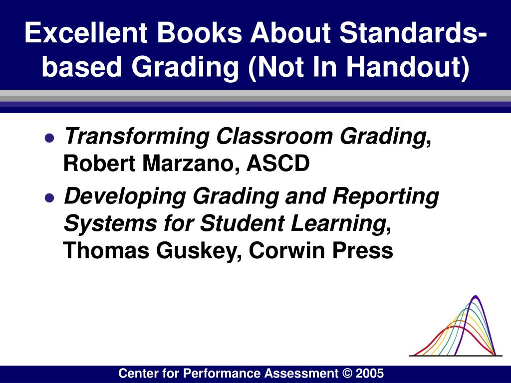Excellent Books About Standards-based Grading (Not In Handout)