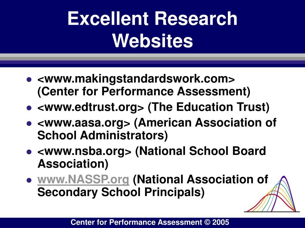 Excellent Research Websites