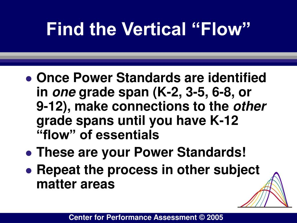 """Find the Vertical """"Flow"""""""