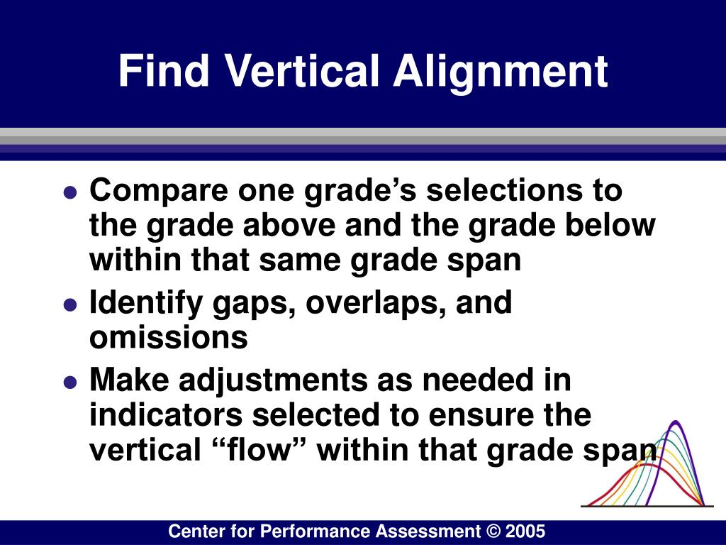 Find Vertical Alignment