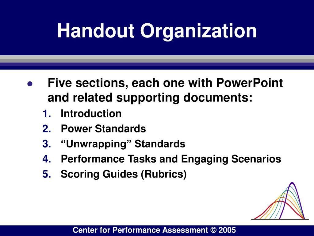 Handout Organization