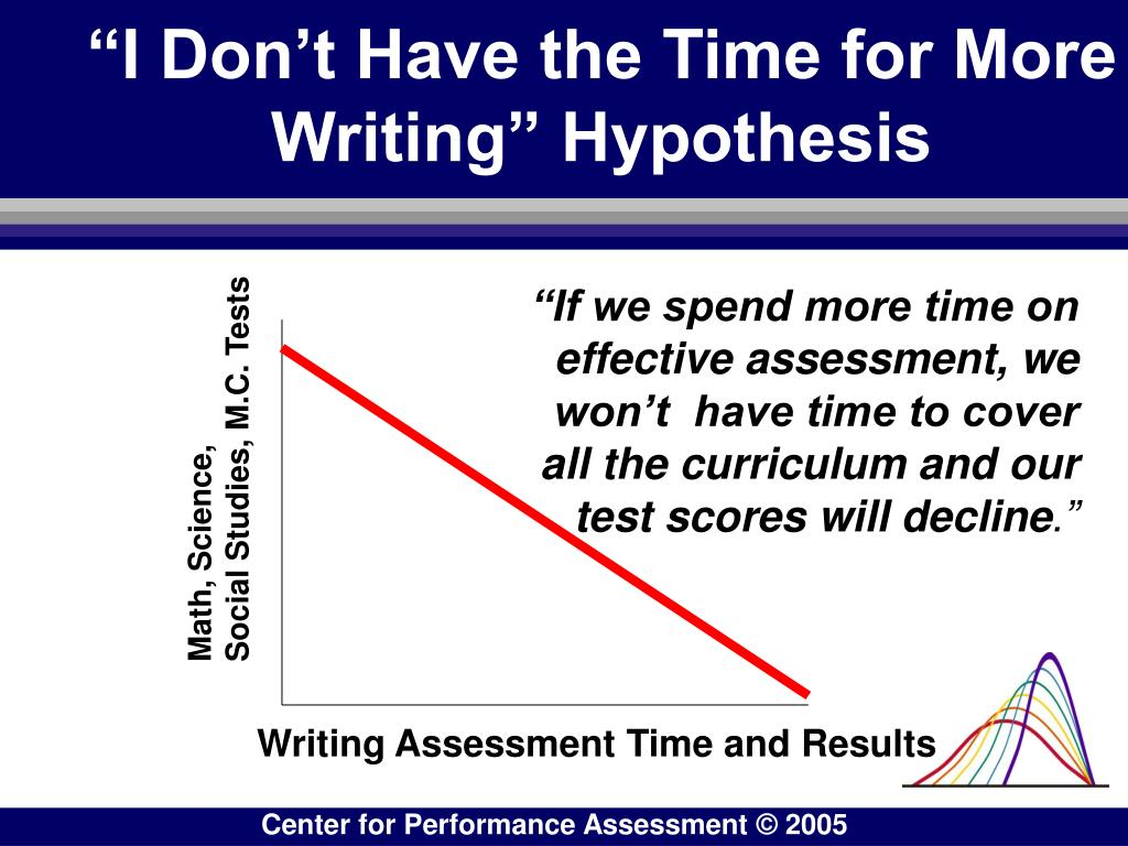 """""""I Don't Have the Time for More Writing"""" Hypothesis"""