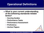 operational definitions12