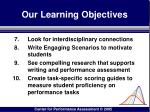 our learning objectives4
