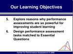 our learning objectives82