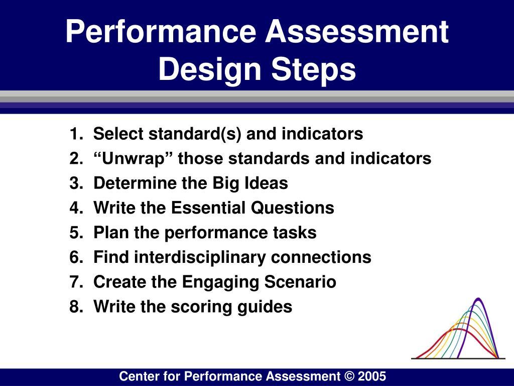 Performance Assessment    Design Steps