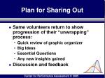 plan for sharing out79