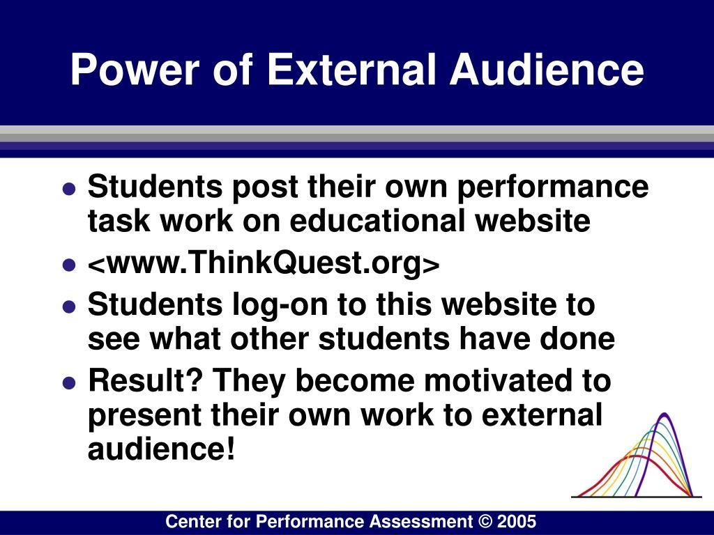 Power of External Audience