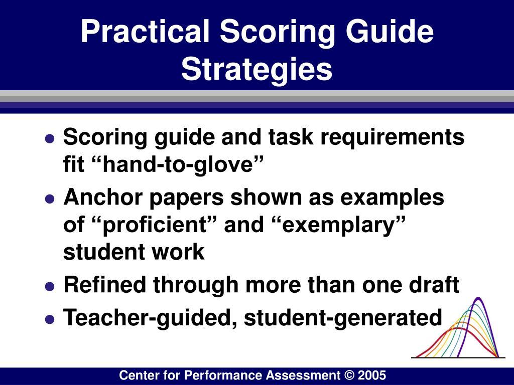 Practical Scoring Guide Strategies