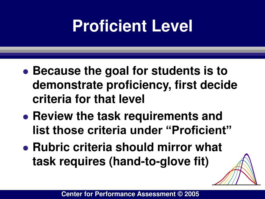 Proficient Level