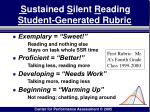 s ustained s ilent r eading student generated rubric
