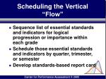 scheduling the vertical flow