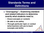 standards terms and definitions48