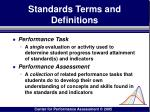 standards terms and definitions84