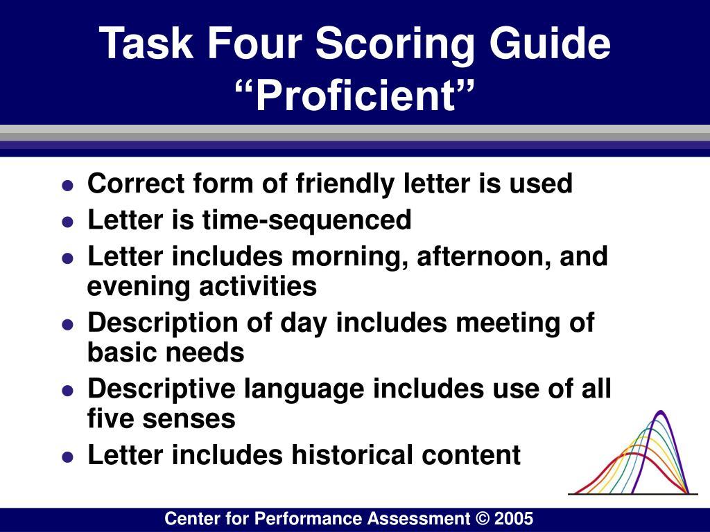 Task Four Scoring Guide