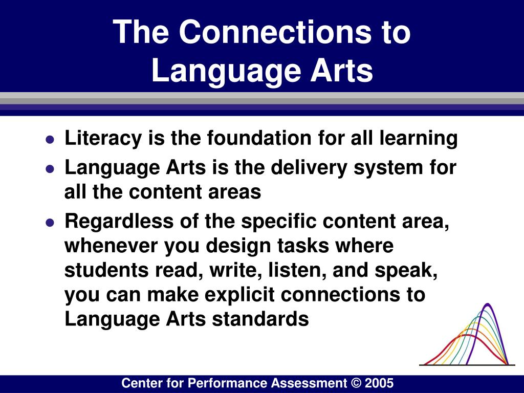 The Connections to Language Arts
