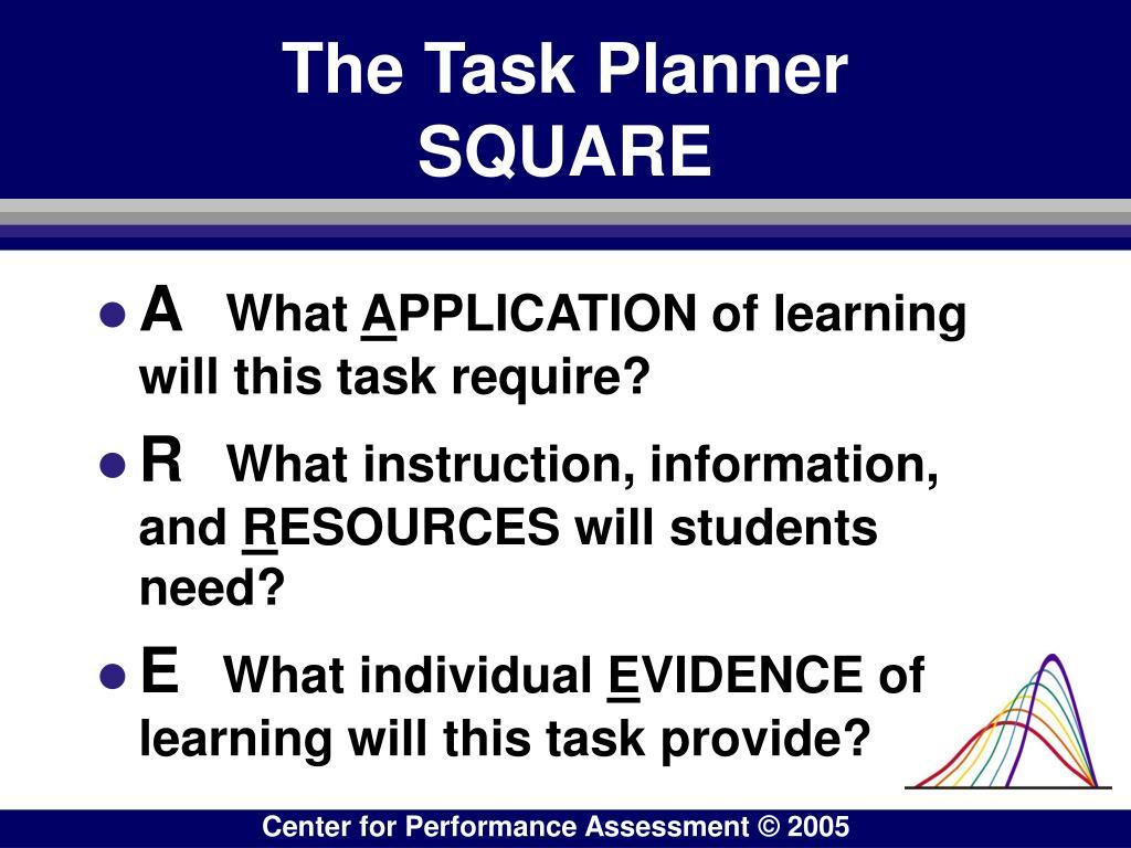 The Task Planner