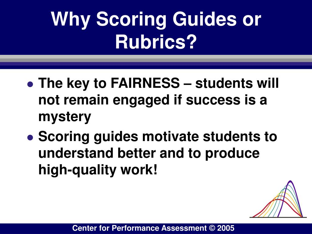 Why Scoring Guides or Rubrics?