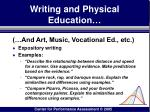 writing and physical education