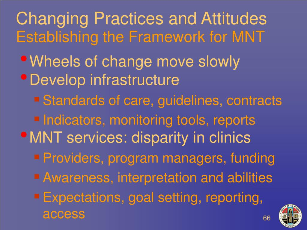 Changing Practices and Attitudes