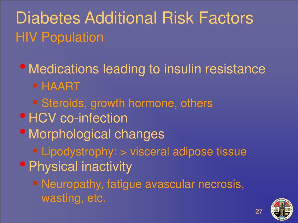 Diabetes Additional Risk Factors