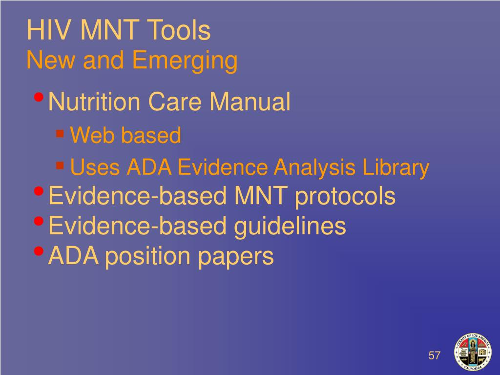 HIV MNT Tools