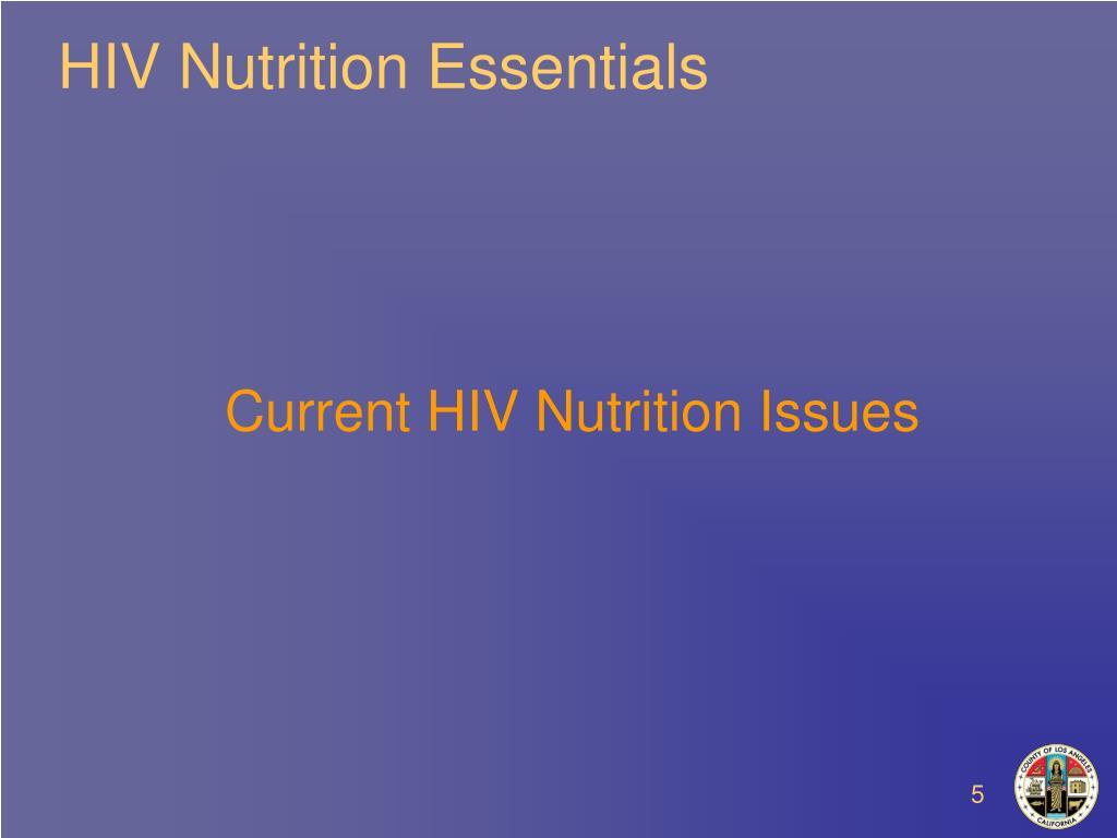HIV Nutrition Essentials