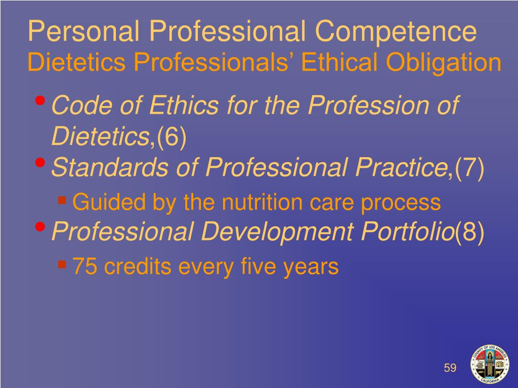 Personal Professional Competence
