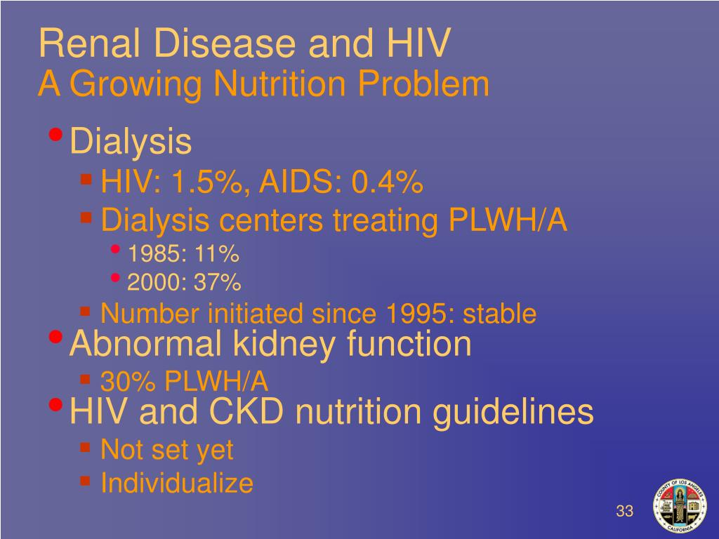 Renal Disease and HIV