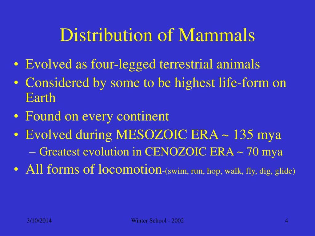 Distribution of Mammals