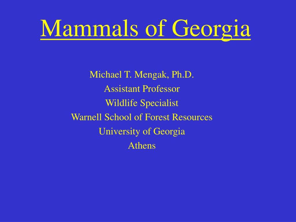Mammals of Georgia