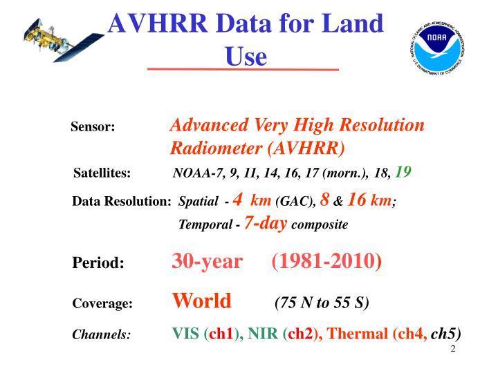 AVHRR Data for Land Use