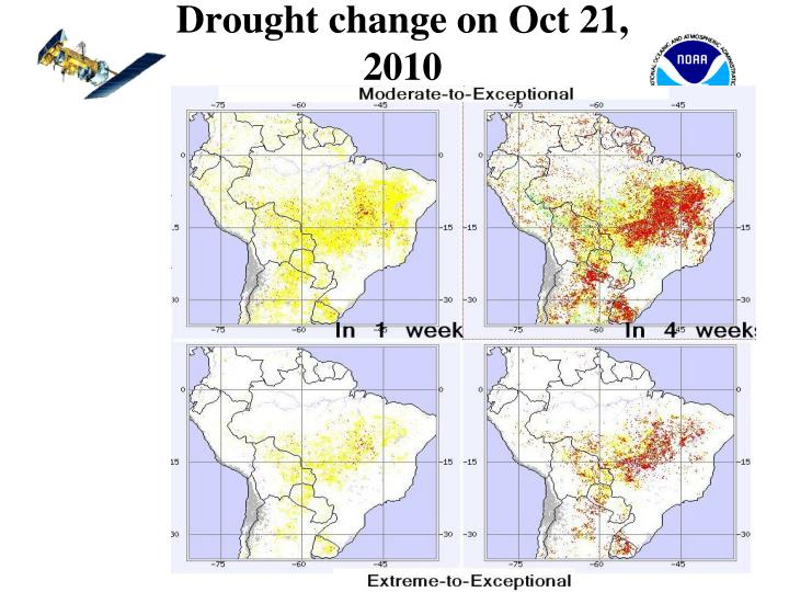 Drought change on Oct 21, 2010