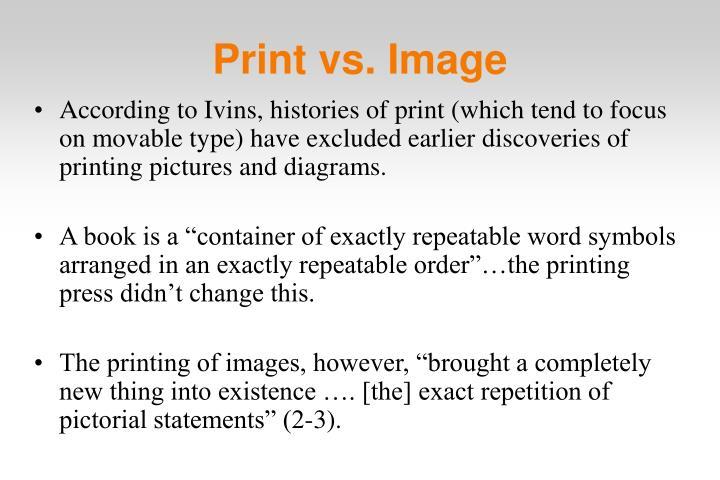 Print vs. Image