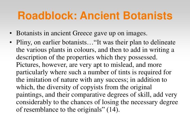 Roadblock: Ancient Botanists