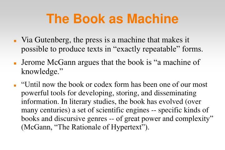 The Book as Machine