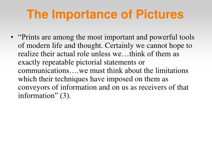 The Importance of Pictures