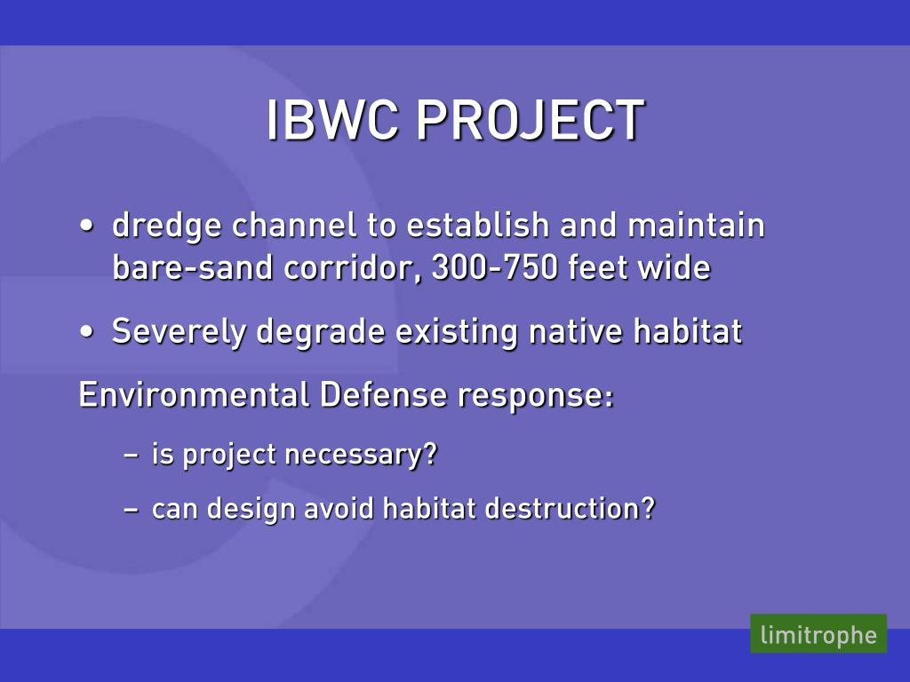 IBWC PROJECT