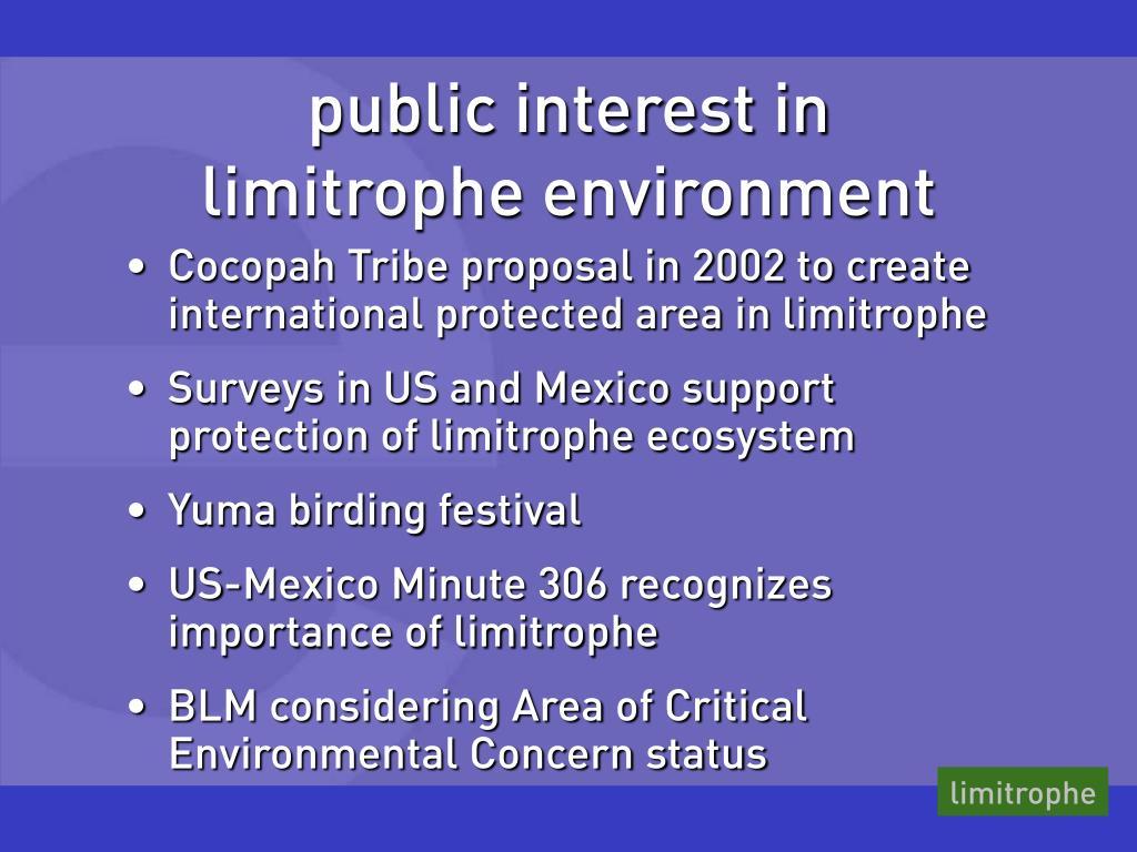 public interest in