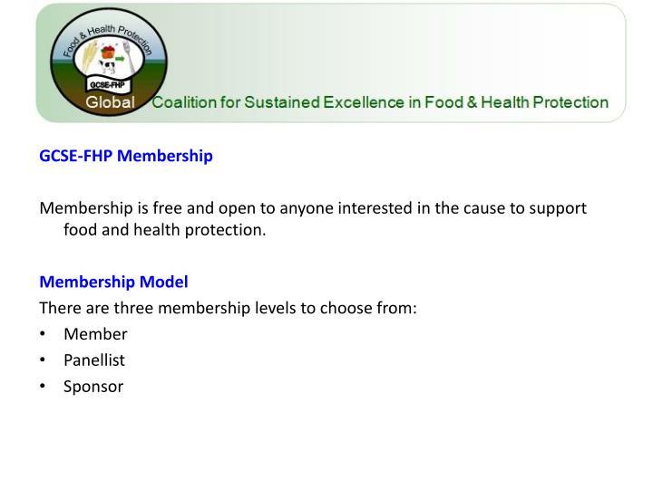 GCSE-FHP Membership