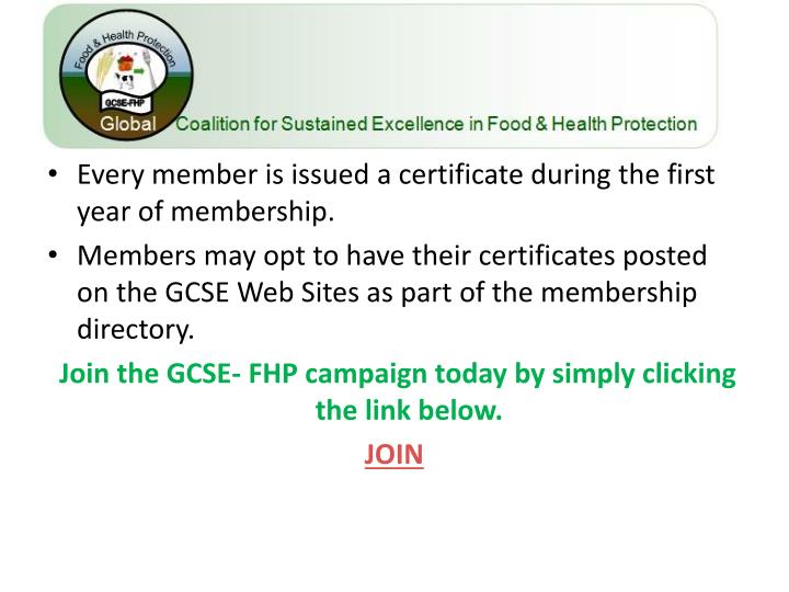 Every member is issued a certificate during the first year of membership.