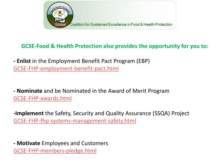 GCSE-Food & Health Protection also provides the opportunity for you to: