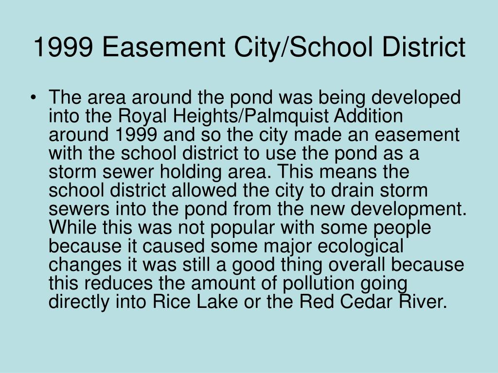 1999 Easement City/School District